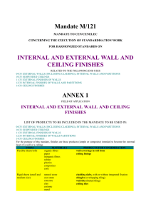 Mandate M/121 INTERNAL AND EXTERNAL WALL AND CEILING