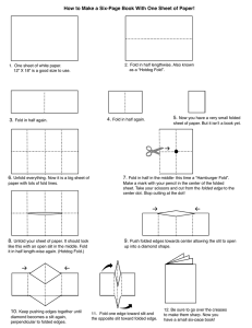 Make a six-page book out of one sheet of paper!