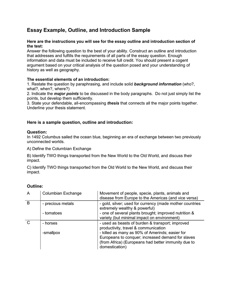 Macbeth Essay Thesis  Yellow Wallpaper Essay also English Language Essays Essay Example Outline And Introduction Sample Proposal For An Essay