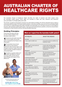 Australian Charter of Healthcare Rights