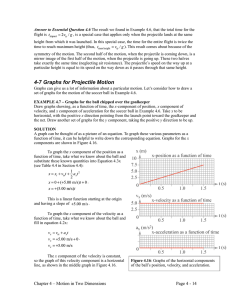 4-7 Graphs for Projectile Motion