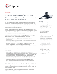 Polycom® RealPresence® Group 700 solution