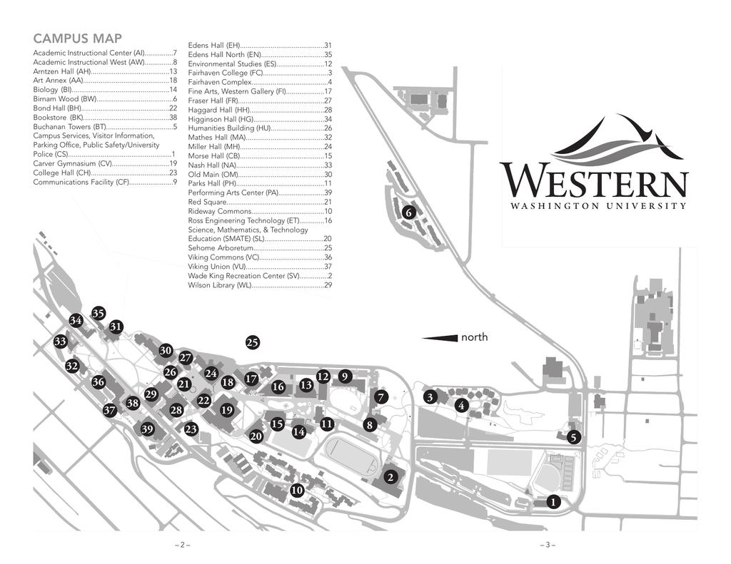 Campus map - Admissions - Western Washington University