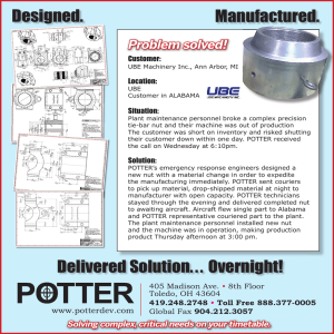 Designed. Manufactured. Delivered Solution. . . Overnight!