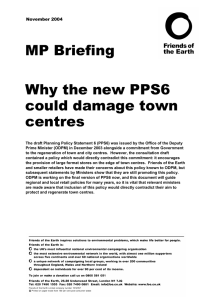 Why the new PPS6 could damage town centres
