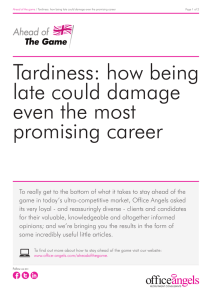 Tardiness: how being late could damage even the most promising