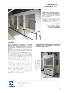 Fume Cupboards according EN 14175
