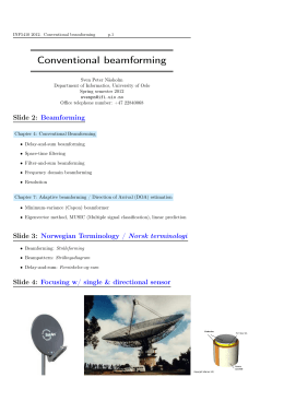 Conventional beamforming