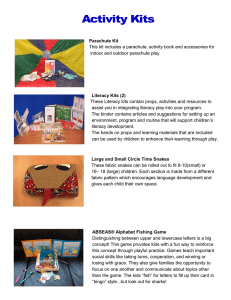 Parachute Kit This kit includes a parachute, activity book and