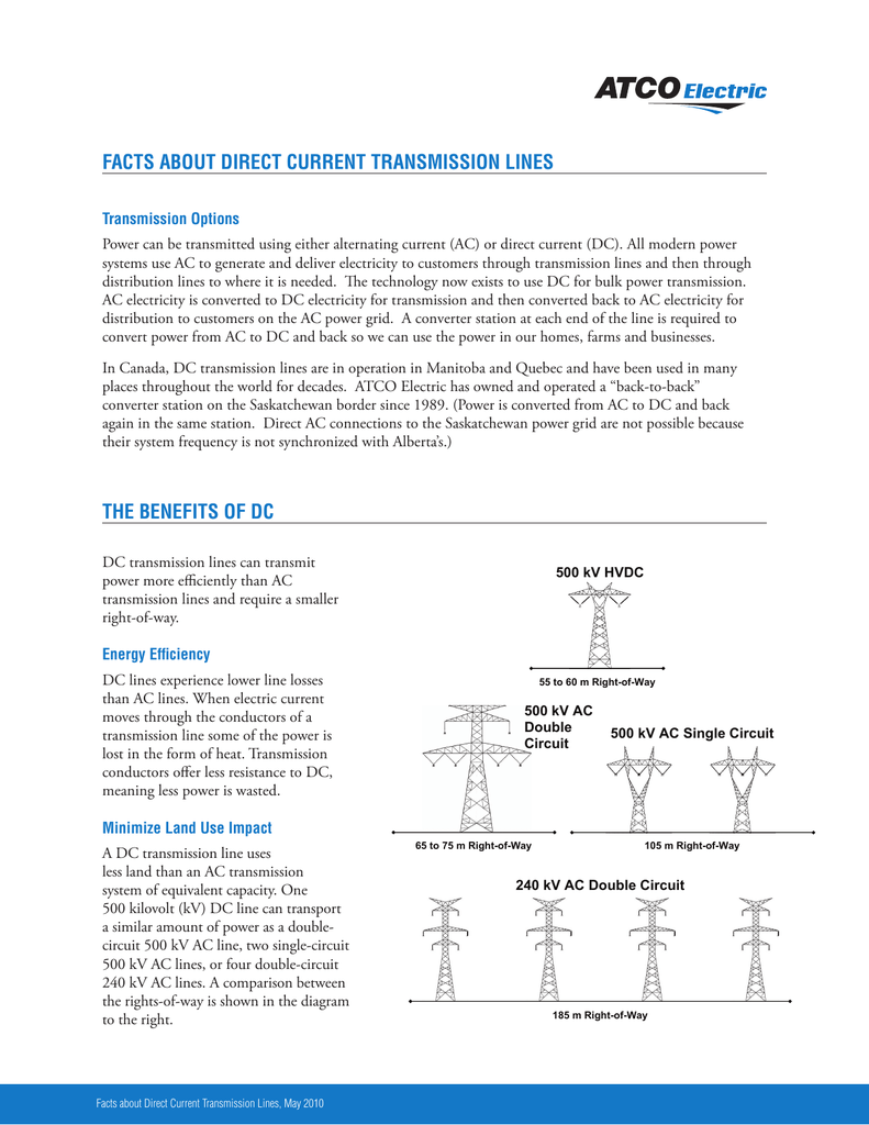 Facts About Direct Current Transmission Lines