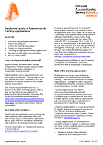Employers` guide to Apprenticeship training organisations