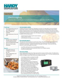 Checkweighing - Hardy Process Solutions
