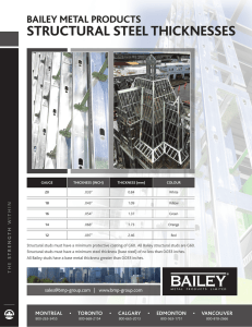 structural steel thicknesses - Bailey Metal Products Limited