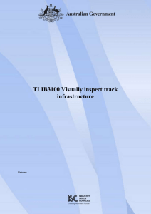 TLIB3100 Visually inspect track infrastructure
