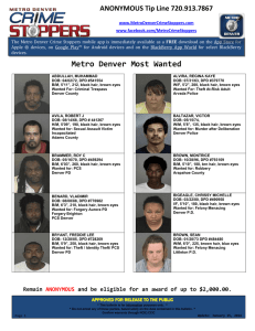 Metro Denver Most Wanted