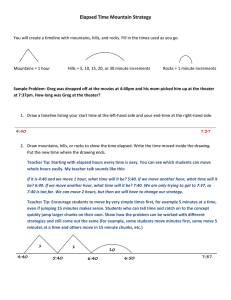 Elapsed Time Mountain Strategy