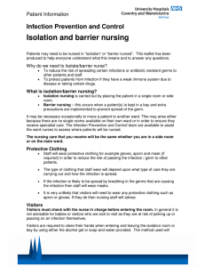 Isolation and barrier nursing