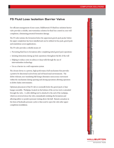 FS Fluid Loss Isolation Barrier Valve