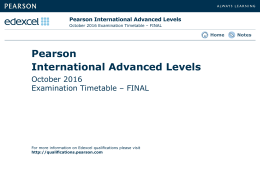 Pearson International Advanced Levels