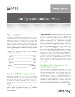 Cooling Towers and Salt Water White Paper