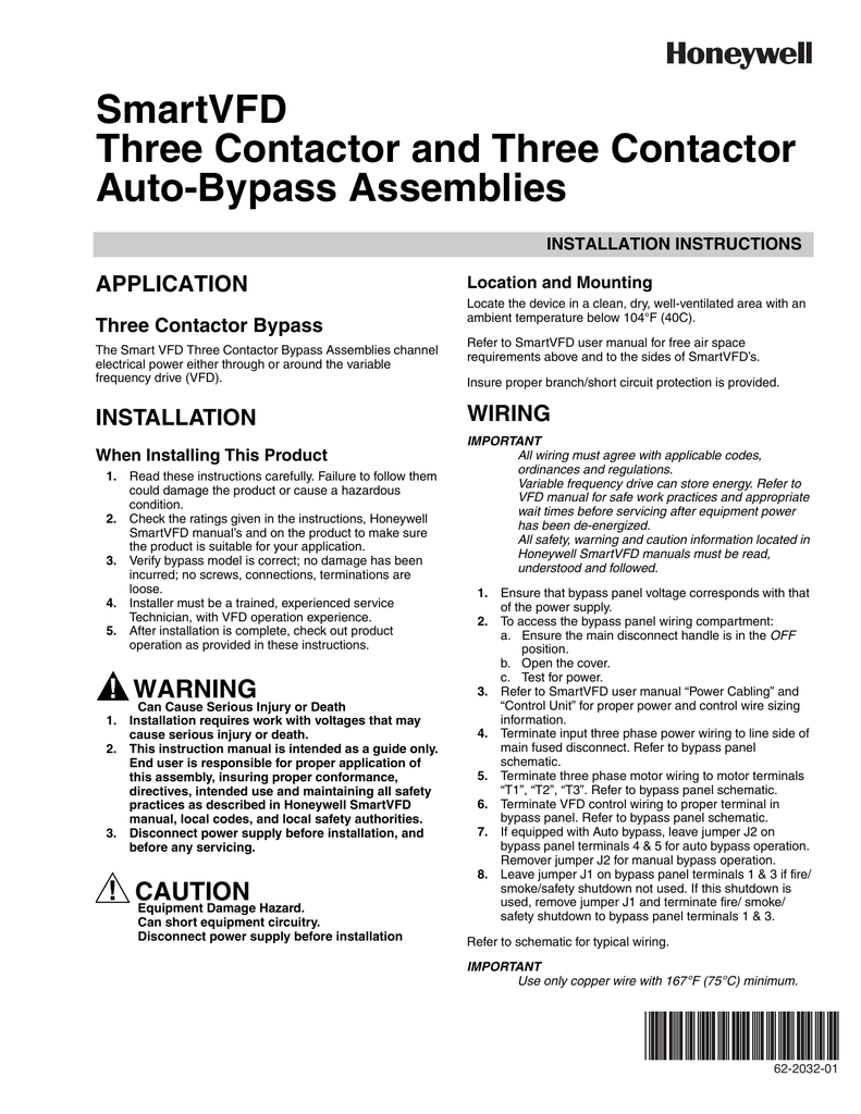 SmartVFD Three Contactor and Three Contactor Auto on
