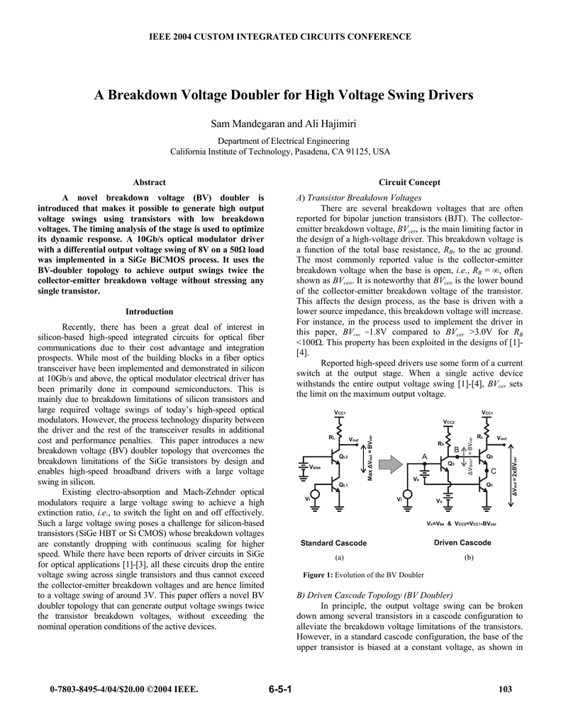 High Voltage Dc From Ac By Using Voltage Multiplier Circuit Principle