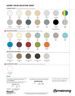 Axiom Color Selection Chart