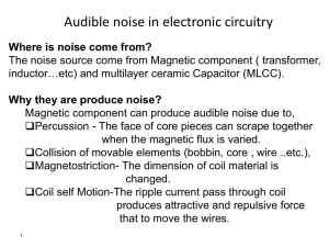 Audible noise in electronic circuitry