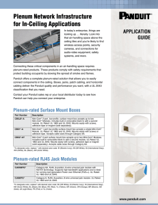 Plenum Network Infrastructure for In-Ceiling Applications