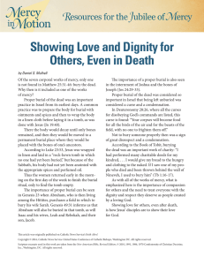 Showing Love and Dignity for Others, Even in Death