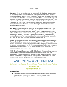 VABIR-VR ALL STAFF RETREAT