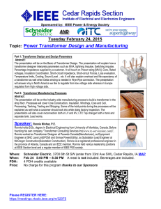 Topic: Power Transformer Design and Manufacturing