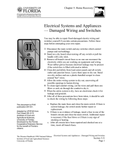 5.31 - Electrical Systems and Appliances