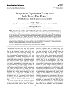 Prospects For Organization Theory - HBS People Space