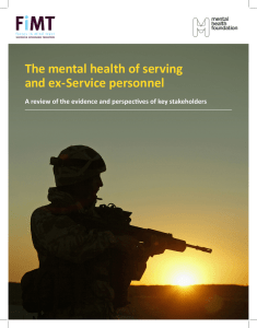 The mental health of serving and ex