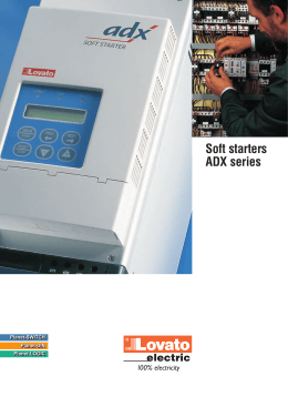 Soft starters ADX series