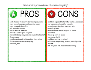 Pros/Cons of E-Waste Recycling