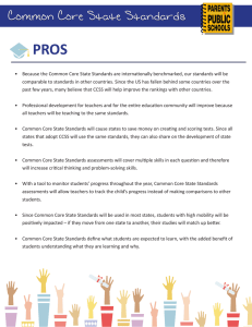 Common Core State Standards Pros/Cons
