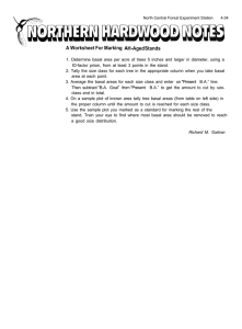 A Worksheet For Marking H-Aged Stands