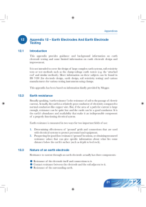 12 Appendix 12 – Earth Electrodes And Earth Electrode
