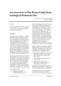 An overview of the Warra Long-Term Ecological Research Site