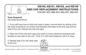 End Cap Installation Instructions