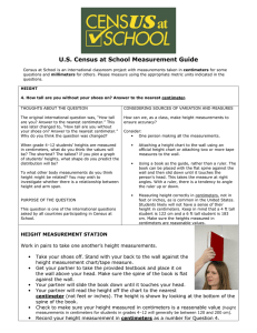 U.S. Census at School Measurement Guide