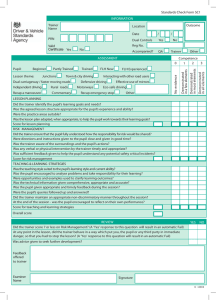 ADI standards check form: example