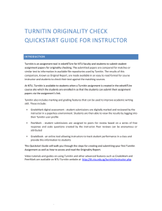 turnitin originality check quickstart guide for instructor