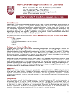 Test Information Sheet - The University of Chicago Genetic Services