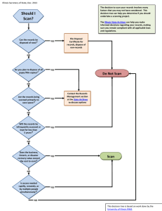 Decision Tree for Scanning Projects