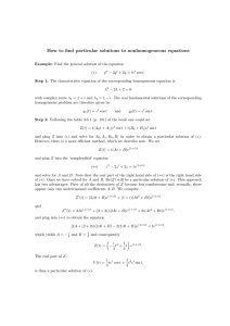 How to find particular solutions to nonhomogeneous equations