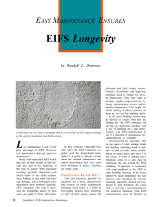 Easy Maintenance Ensures EIFS Longevity