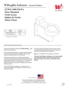 ETWS-1490-FM-FA Floor Mounted Front Access Siphon Jet Series